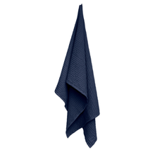 Load image into Gallery viewer, NAVY BIG WAFFLE TOWEL/THROW
