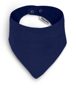 NAVY COTTON BIB
