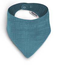Load image into Gallery viewer, TURQUOISE COTTON BIB