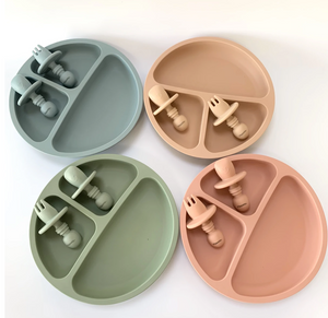 APRICOT SUCTION PLATE & EASY FORK