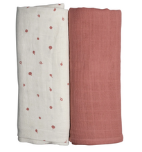 Load image into Gallery viewer, BERRY PINK LUXURY SWADDLE DUO