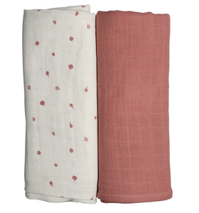 BERRY PINK LUXURY SWADDLE DUO