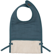 Load image into Gallery viewer, MUSLIN FEEDING BIB - BLUE SPRUCE