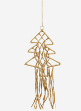 Load image into Gallery viewer, STRAW CHRISTMAS TREE