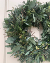 Load image into Gallery viewer, WINTER FOLIAGE WREATH