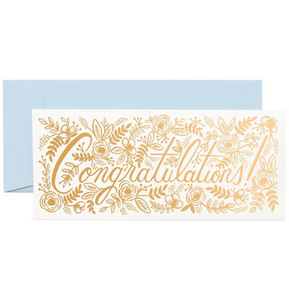 ROSE GOLD FOILED CONGRATULATIONS RIFLE PAPER CARDS