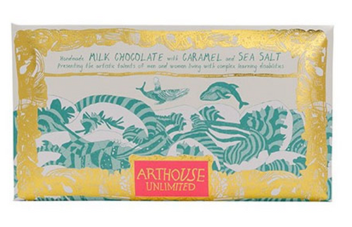 MILK CHOCOLATE with CARAMEL & SEASALT