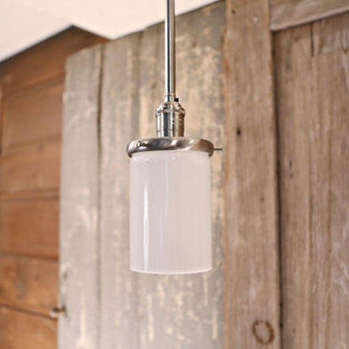 Downrod Lighting with Opal Cylinder Glass - 4 Inch