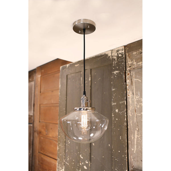 Pendant Lighting with Soft Tapered Shade - 10 Inch