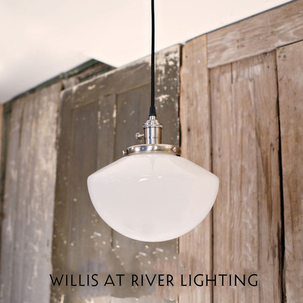 Lighting with Soft Taper Opal Shade - 10 Inch