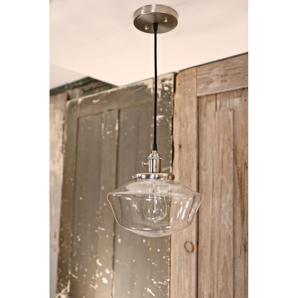Lighting with Schoolhouse Style Clear Glass - 10 Inch