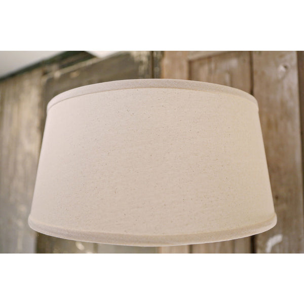 Taper Drum Shade - Homespun Natural - 18 Inch