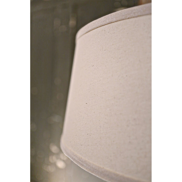 Modern Taper Burlap Drum Shade - Homespun Natural - Oil Rubbed Bronze Hardware - 18 Inch