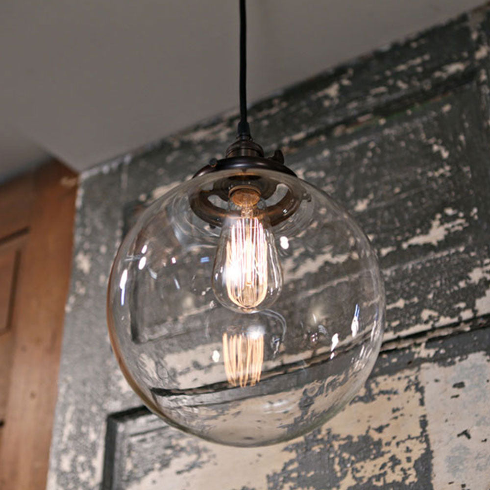 Clear Glass Globe Lighting - 10 Inch
