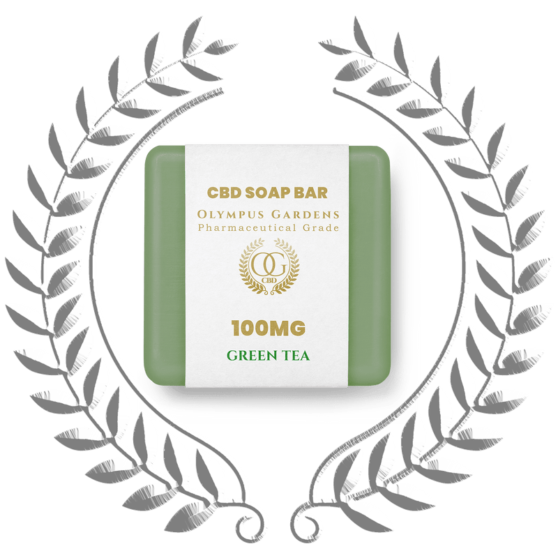 Pharmaceutical Grade 100MG Soap Bars - Green Tea - Olympus Gardens CBD