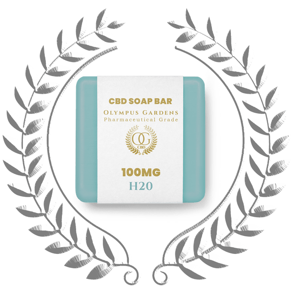 Pharmaceutical Grade 100MG Soap Bars - H20 - Olympus Gardens CBD