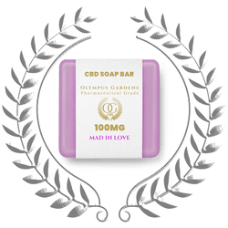 Pharmaceutical Grade 100MGSoap Bars - Mad in Love - Olympus Gardens CBD