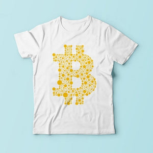 Bitcoin Typographic Word Cloud