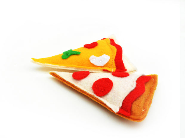 Pizza Cat Toy – Eco-friendly Catnip Toy – Matatabi Silvervine Cat Toy – Valerian Cat Toy