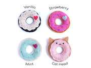 Donut Cat Toy – Eco-friendly Catnip Toy – Silvervine Matatabi Cat Toy – Valerian Cat Toy