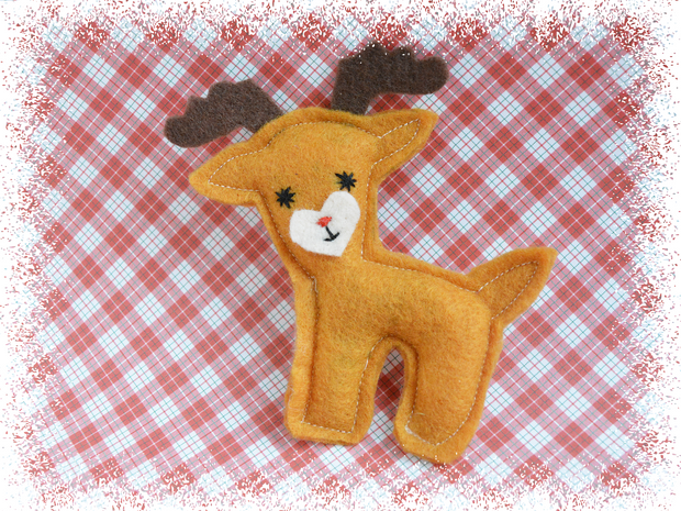 Reindeer Christmas Cat Toy – Eco-friendly Catnip Toy – Silvervine Matatabi Cat Toy – Valerian Cat Toy