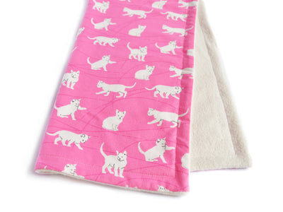Eco-friendly Cat Blanket - Blanket for Cats - Bamboo Cat Blanket - White Cats in Meowiland