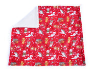 Christmas Cat Blanket - Winter Blanket for Cats - Bamboo Cat Blanket - Eco-friendly Blanket