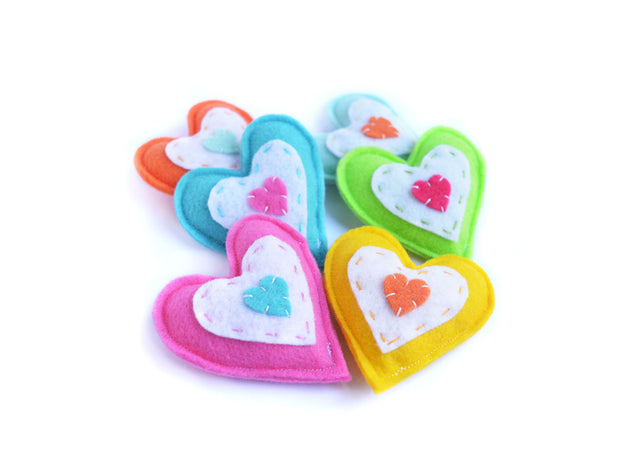 Heart Cat Toy – Eco-friendly Catnip Toy – Silvervine Matatabi Cat Toy – Valerian Cat Toy