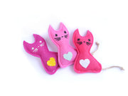 Set of 3 Cat Toys – Eco-friendly Catnip Toy – Matatabi Silvervine Cat Toy – Valerian Cat Toy
