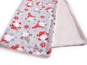 Christmas Cat Blanket - Gnome Blanket - Winter Blanket for Cats - Nordic Bamboo Cat Blanket - Eco-friendly Blanket