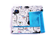 Eco-friendly Cat Blanket - Blanket for Cats - Cat Doodles