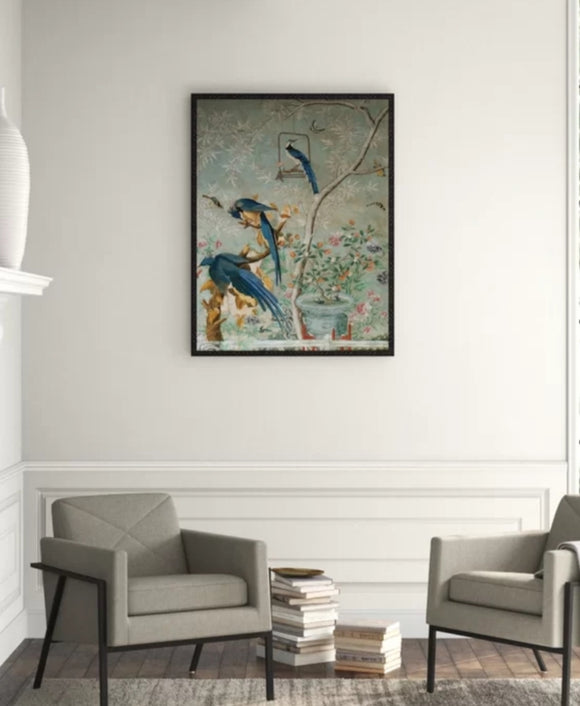 Art - 'Chinoiserie Collage' Framed painting