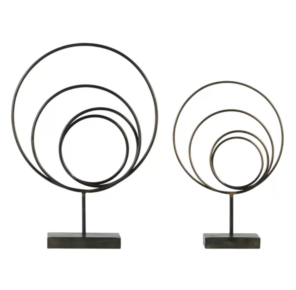 Decor - Poole Metal Abstract 2 Piece Sculpture Set