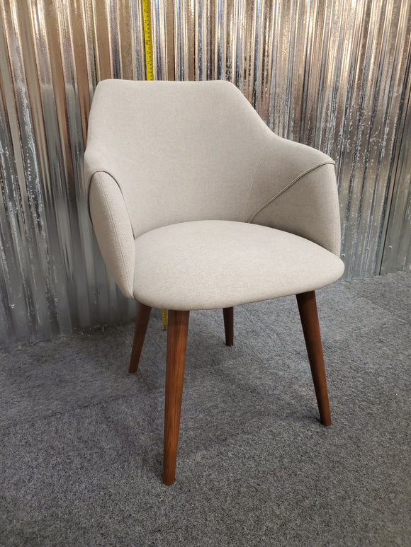 Chair - accent chair with wood legs