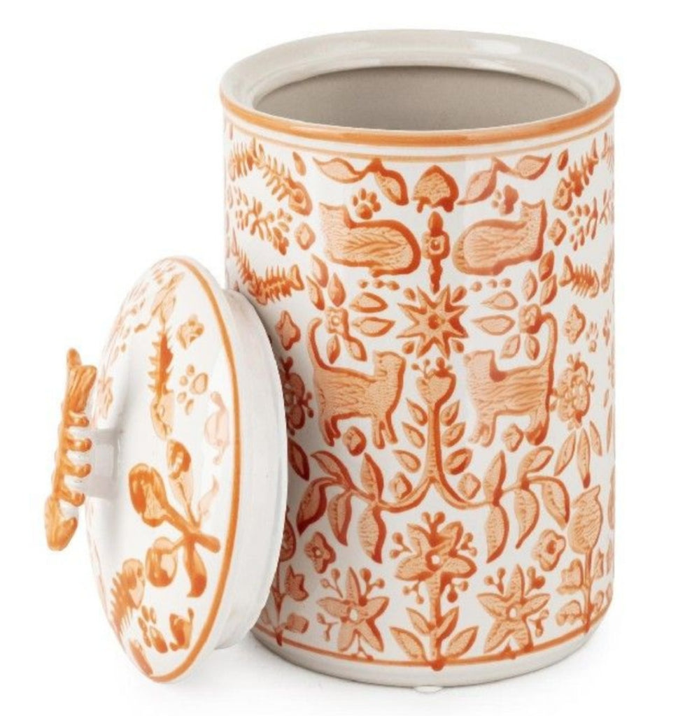 Pet - Otomi Cat Treat Handpainted Canister
