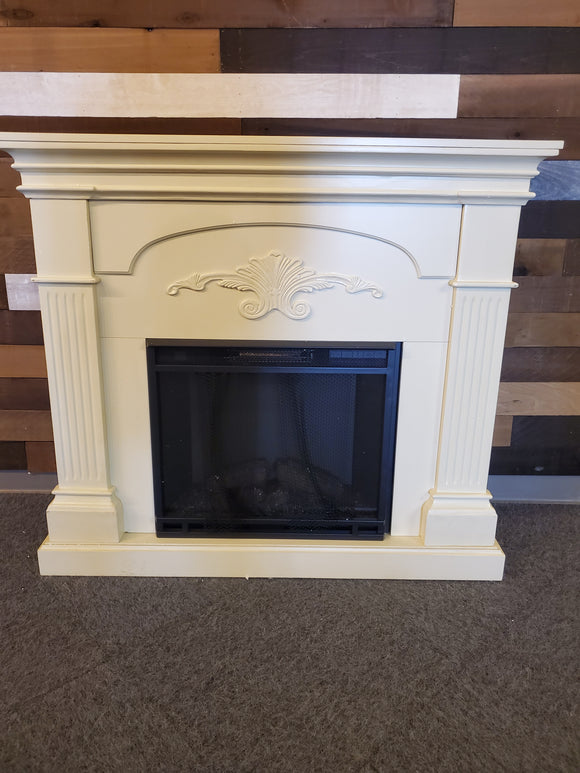 Fireplace - Assembled off white with firebox
