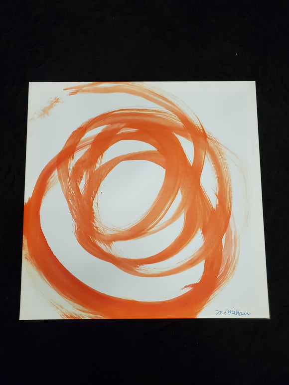 Art - orange swirl 24 x 31