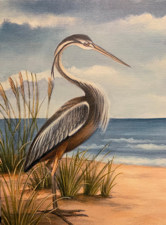 Art - 22x32 Beach Bird