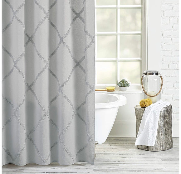 Shower Curtain Peri Home Gray 72x72