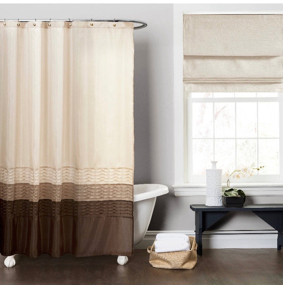 Shower Curtain- Riley Wheat/Taupe 72x72