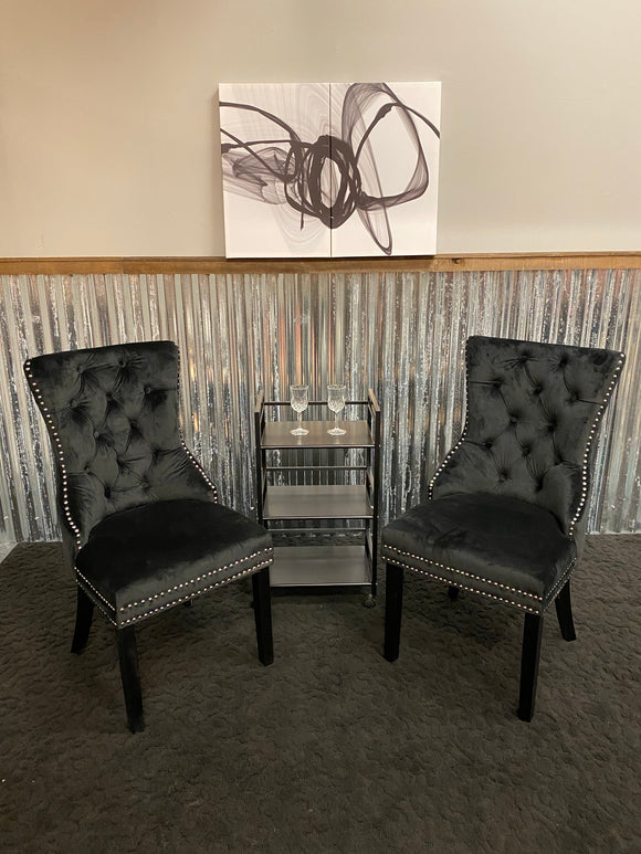 Combo - 2 Accent chairs, Art, Cart, 2 wine Glasses