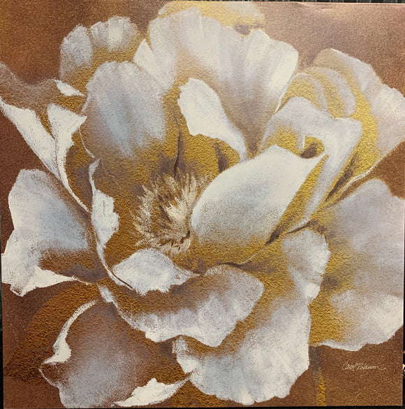 Art - 32x32 Gold and White Flower
