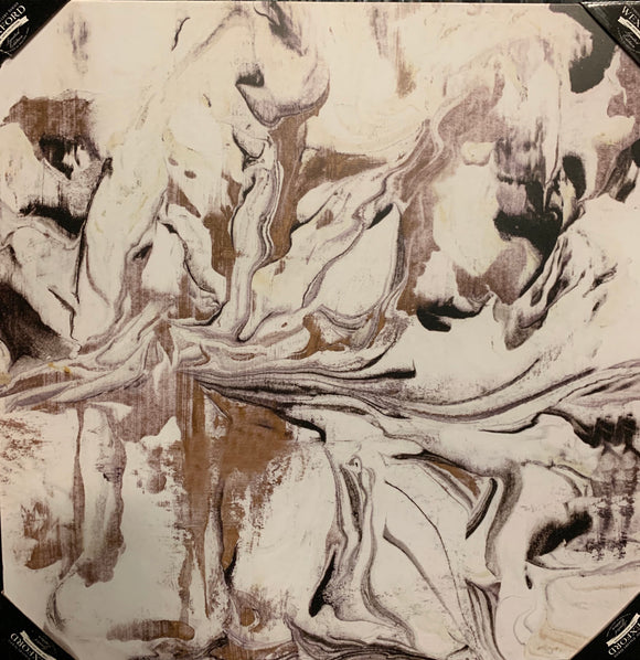 Art 32x32 black white gold swirl