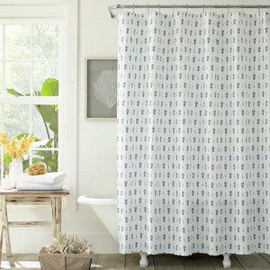 Shower Curtain-Pineapple Pinstripe Tommy Bahama