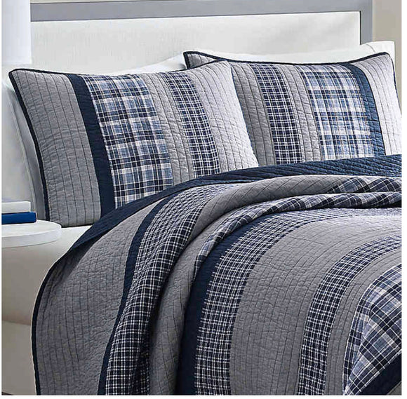 Bedding-Nautica Adelson Navy Cotton Pillow Sham Only