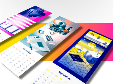 Takk Design | New Risograph 2019 Wall Calendar
