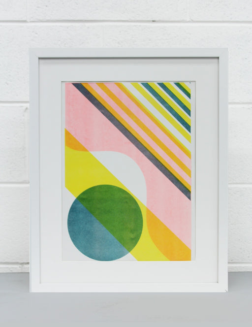 Colour block Risograph Print