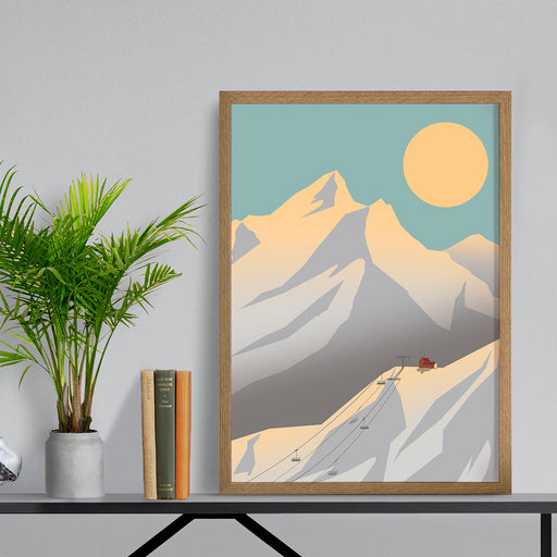 Sunset Mountains Print