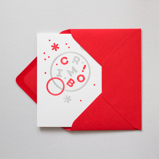 Crimbo Letterpress Christmas Card