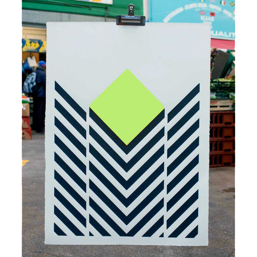 GRN&BLK Screenprint by Katy Binks